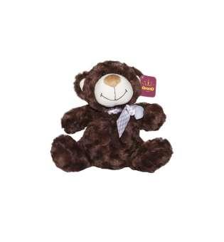 м'яка Іграшка - Ведмідь коричневий з бантом (25 См)