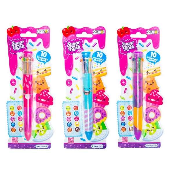 Багатокольорова ароматна кулькова ручка - Феєричний настрій