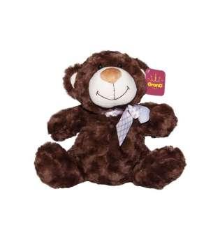 м'яка Іграшка - Ведмідь коричневий з бантом (33 См)