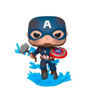 """Ігрова фігурка Funko POP! cерії """"Месники: Фінал"""" - Капітан Америка з мйольніром"""