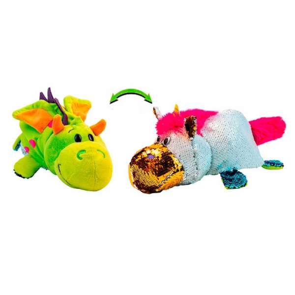 м'яка Іграшка З Паєтками 2 В 1 - ZooPrяtki - Єдиноріг-Дракон (30 Cm)