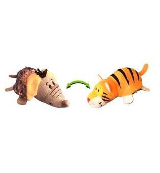 м'яка Іграшка З Паєтками 2 В 1 - ZooPrяtki - Слон - Тигр (12 Cm)