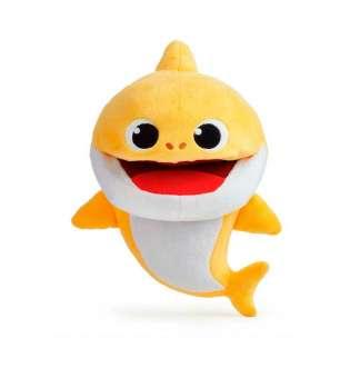 Інтерактивна м'яка іграшка на руку BABY SHARK зі зміною темпу програвання - Малюк Акуленятко