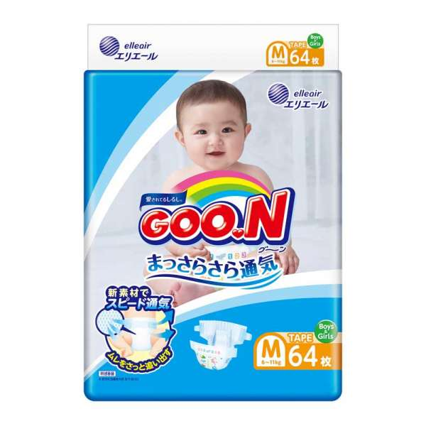 Підгузки Goo.N для дітей колекція 2020 (розмір M, 6-11 кг)