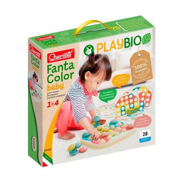 """Набір серії """"Play Bio"""" - Для занять мозаїкою Fantacolor Baby (фішки (21 шт.) + дошка)"""