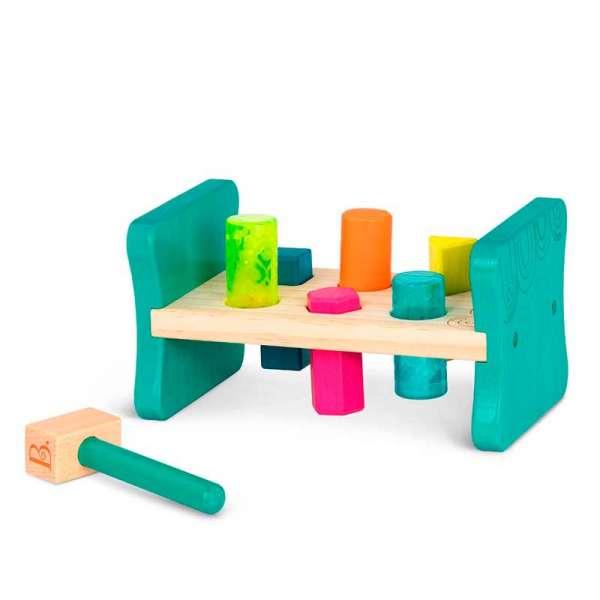Розвиваюча дерев'яна іграшка-сортер - Бум-Бум