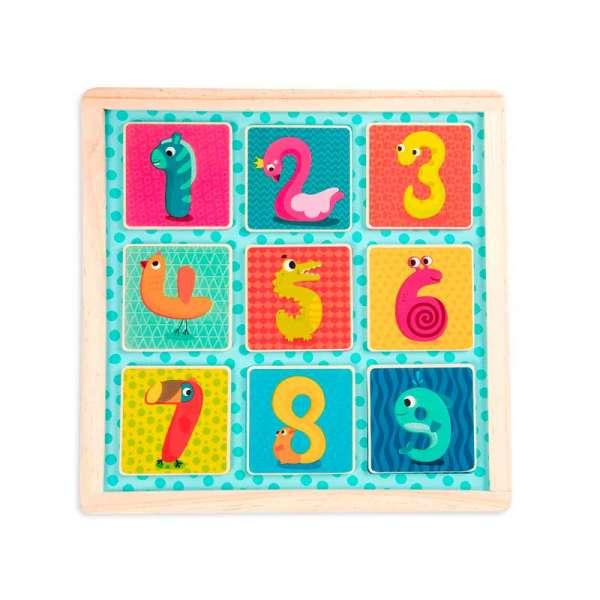 Дерев'яна іграшка-вкладиш - Магнітні цифри