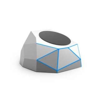 Бездротовий Зарядний Пристрій Xoopar -Geo Dock (Сріблястий З Синьою Led-Підсв)