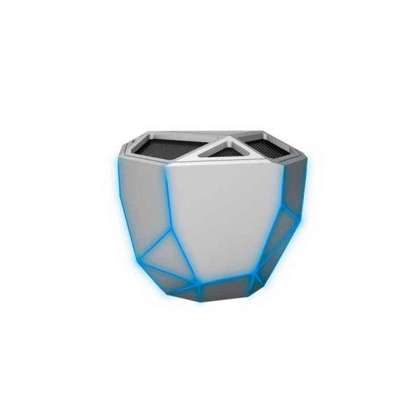 Акустична Система Xoopar - Geo Speaker (Срібляста, Син. Led, З Bluetooth, Моно)