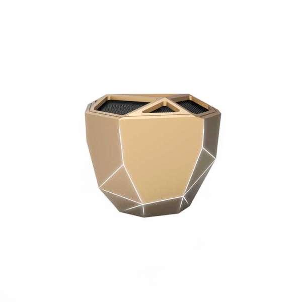 Акустична Система Xoopar - Geo Speaker (Золотиста, Біл. Led, З Bluetooth, Моно)