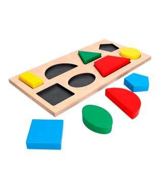 Дидактична рамка-вкладиш Геометричні фігури 8