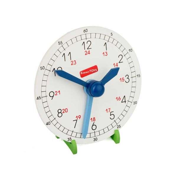 Годинник навчальний (макет) з підставкою