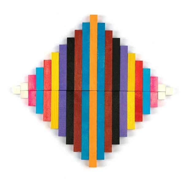 Кольорові палички Кюїзенера 116шт (пластикова коробка). Книжечка з прикладами всередині