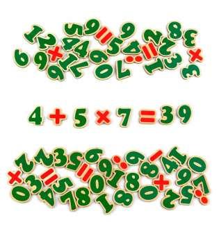 Набір. Цифри та знаки на магнітах 72 елементи