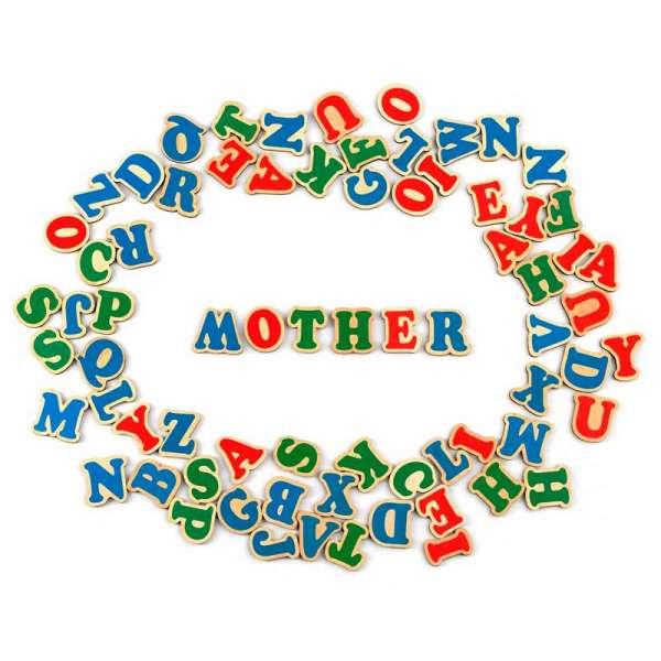 Набір. Англійська абетка на магнітах 72 літери