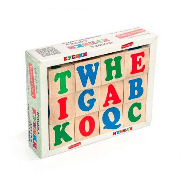 Англійська абетка 12 кубиків