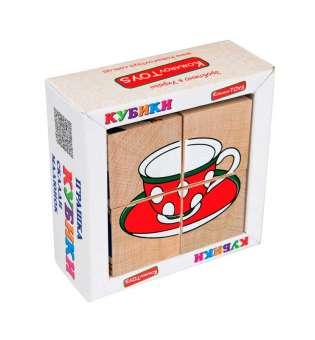 Набір кубиків Склади малюнок Посуд 4шт.