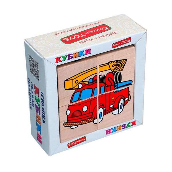 Набір кубиків Склади малюнок - Транспорт 4шт.