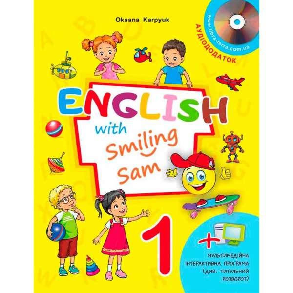 Підручник для 1 класу English with Smiling Sam 1 (з аудіосупроводом та мультимедійною інтерактивною програмою) НУШ - 1