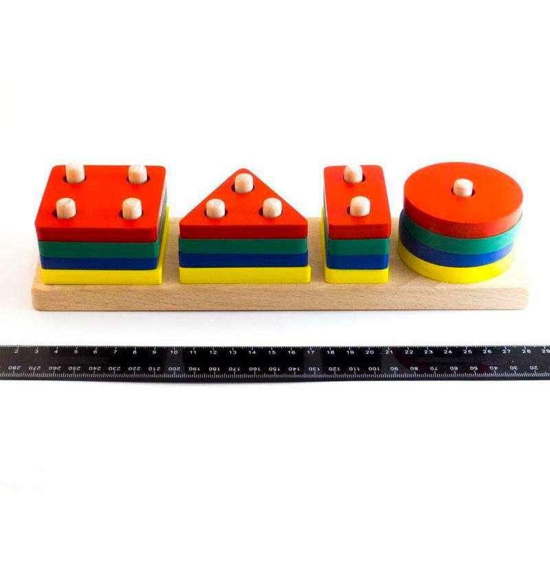 Дерев'яна іграшка Геометрик класичний 4 фігури