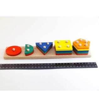 Дерев'яна іграшка Геометрик 5 фігур