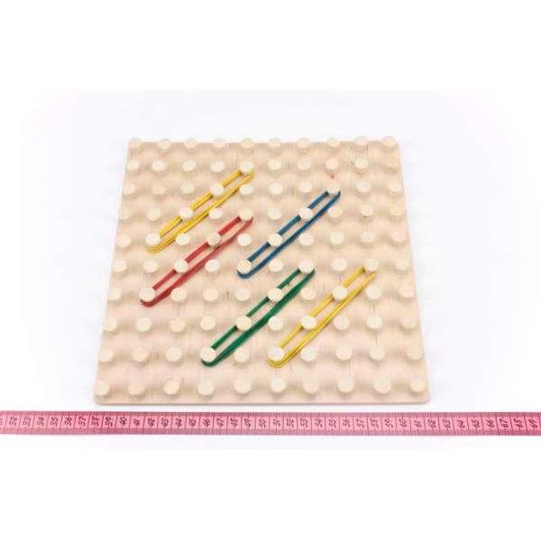 Математичний планшет іграшка Фантазуємо з резиночками 10х10