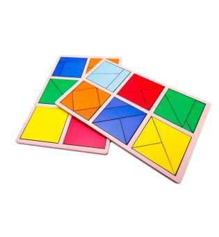 Дерев'яна іграшка 1 рівень / Склади квадрат методика Нікітіних