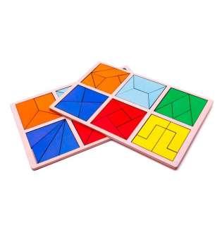 Дерев'яна іграшка 2 рівень / Склади квадрат методика Нікітіних