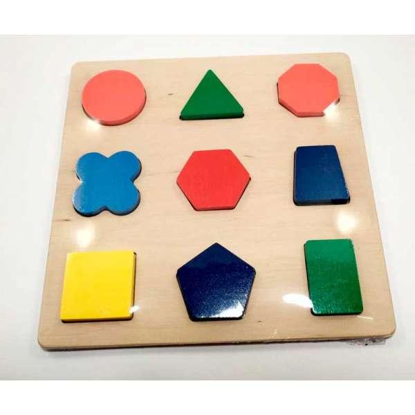 Дерев'яна іграшка Дошка-вкладка Фігури методика Нікітіних