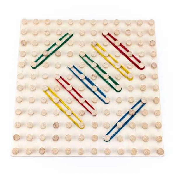 Математичний планшет іграшка Фантазуємо з резиночками 12х12