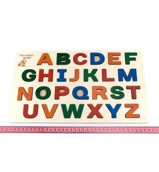 Дерев'яна іграшка Дошка-вкладка Англійський алфавіт