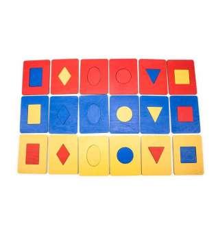 Дощечки Сегена, 6 фігур, 3 кольори