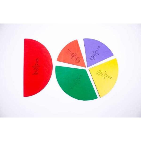 Розвиваюча гра Дроби-піца 1-6, 20см