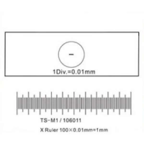 Калібрувальна лінійка SIGETA X 1мм / 100 Div.x0.01мм
