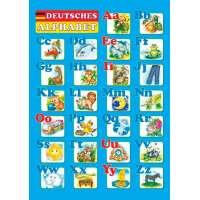 Німецький алфавіт. Плакат двосторонній /для учня/