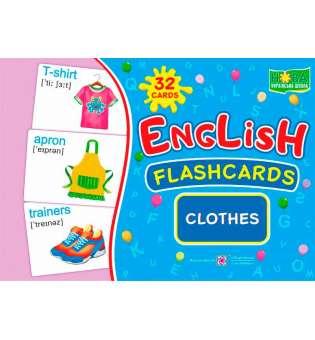 Clothes/Одяг. Комплект флеш-карток з англійської мови