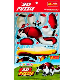 Іграшки 3D-пазли Ящір (4в1)