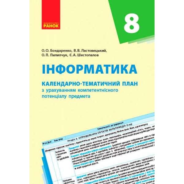 Календарно-тематичний план. Інформатика 8 кл. НОВА ПРОГРАМА