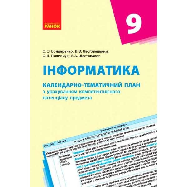 Календарно-тематичний план. Інформатика 9 кл. НОВА ПРОГРАМА