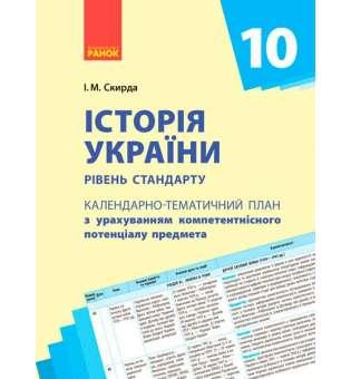 Календарно-тематичний план. Історія України 10 кл. Рівень стандарту