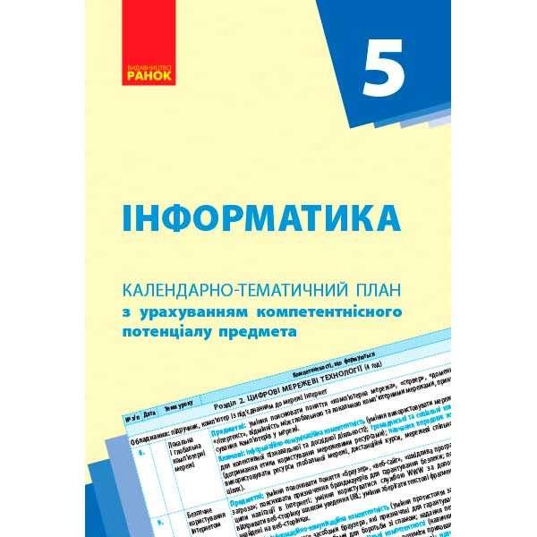 Календарно-тематичний план. Інформатика 5 кл. НОВА ПРОГРАМА