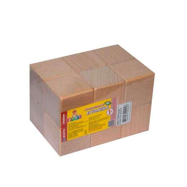 Набір дерев'яних кубиків (незабарвлені), 12 шт 5х5см