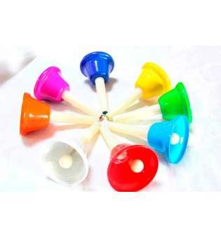 Дзвіночки музичні кольорові(8шт)