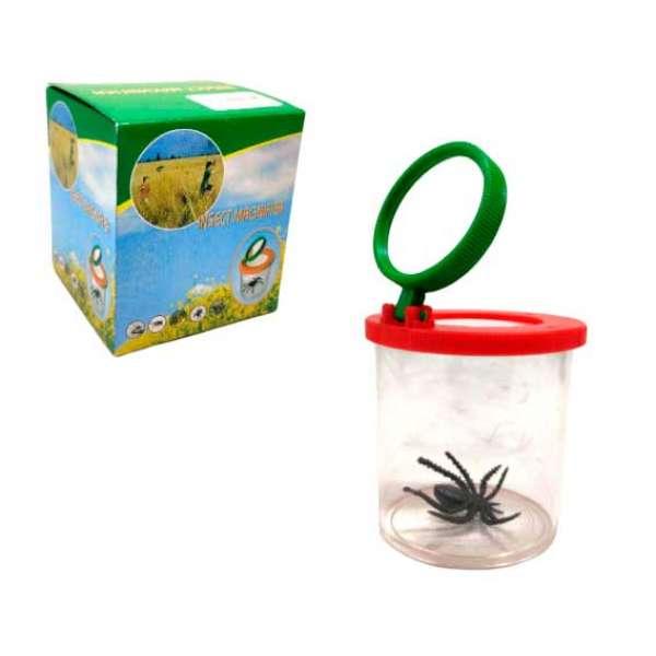 Контейнер для комах зі збільшувальним склом
