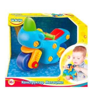 57082.Дитяча пластикова іграшка BeBeLino Конструктор Мотоцикл