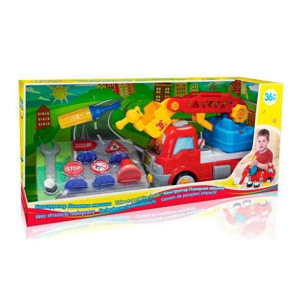 58013.Дитяча пластикова іграшка BeBeLino Конструктор Пожежна машинка
