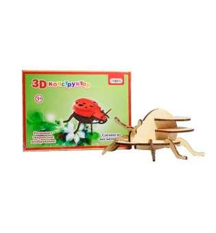 3D деревянный конструктор 606 Божья коровка, в пленке