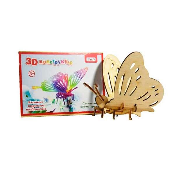 3D дерев'яний конструктор 605 Метелик, в плівці