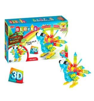 3D-конструктор Animal World - Павич, 227 деталей