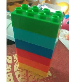 Конструктор 6 цеглинок (аналог Лего, розмір 3х6см)